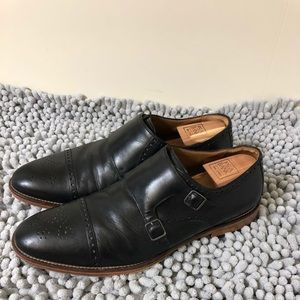 Johnston & Murphy Black Monk Strap Shoes